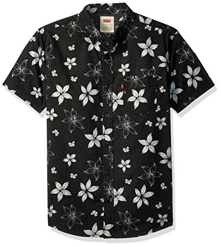 Levi's Men's Gatland Short Sleeve Woven Shirt, caviar, Medium