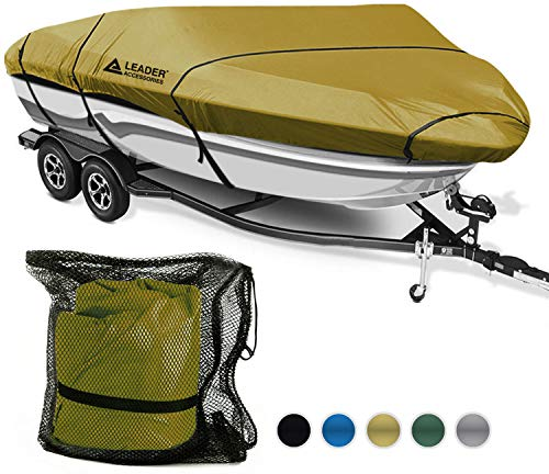 Buy Bargain Leader Accessories 600D Polyester 5 Colors Waterproof Trailerable Runabout Boat Cover Fi...