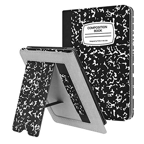 Fintie Stand Case for Kindle Paperwhite (Fits All-New 10th Generation 2018 / All Paperwhite Generations) - Premium PU Leather Protective Sleeve Cover with Card Slot and Hand Strap, Composition B