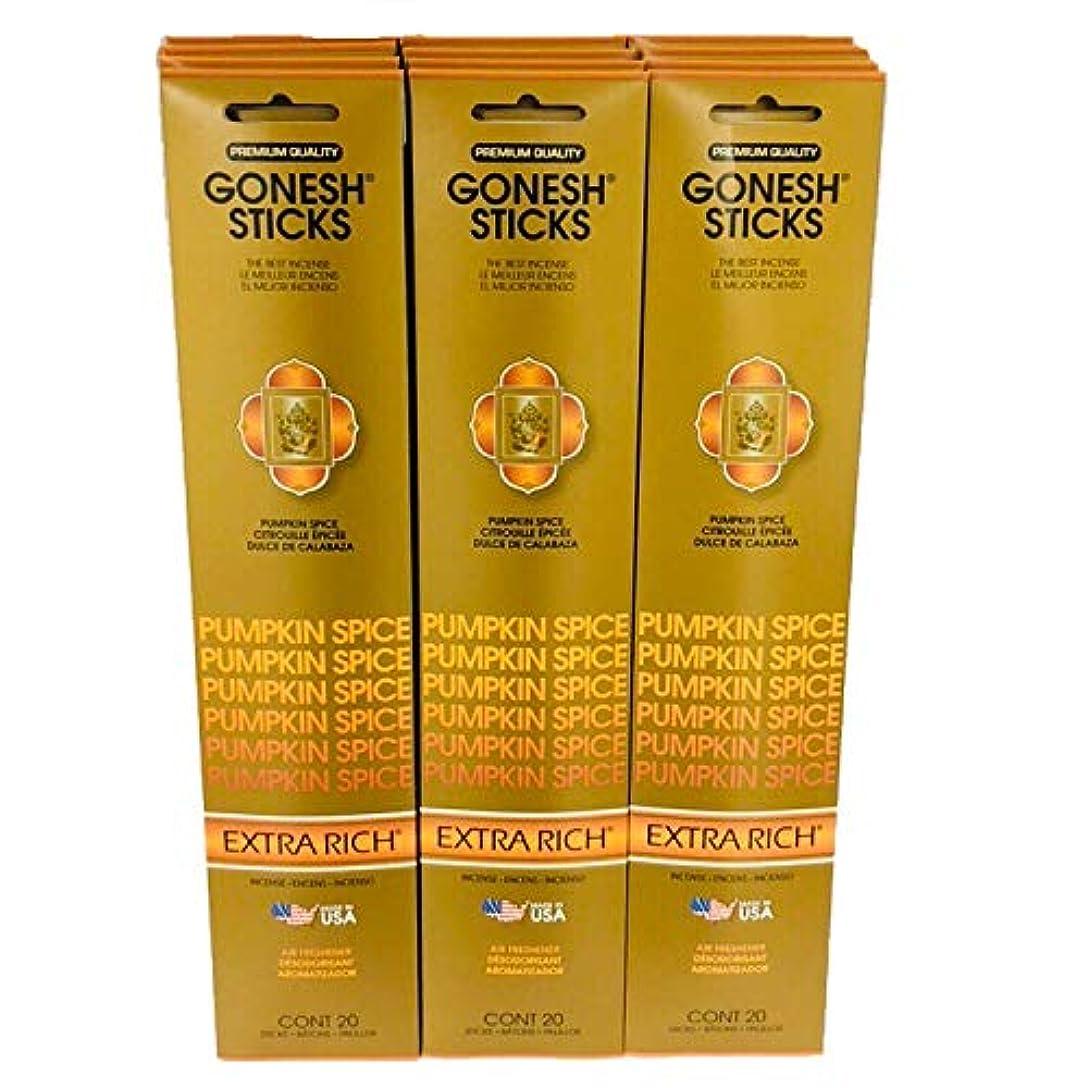 大腿高める角度Gonesh Incense?–?12?Pumpkin Spiceパック( 240?Sticks ) Incense Sticks Extra Richコレクション