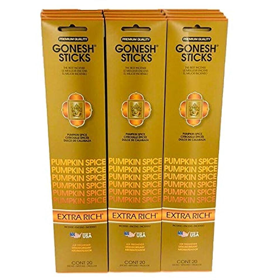 セイはさておき昼食統計Gonesh Incense?–?12?Pumpkin Spiceパック( 240?Sticks ) Incense Sticks Extra Richコレクション