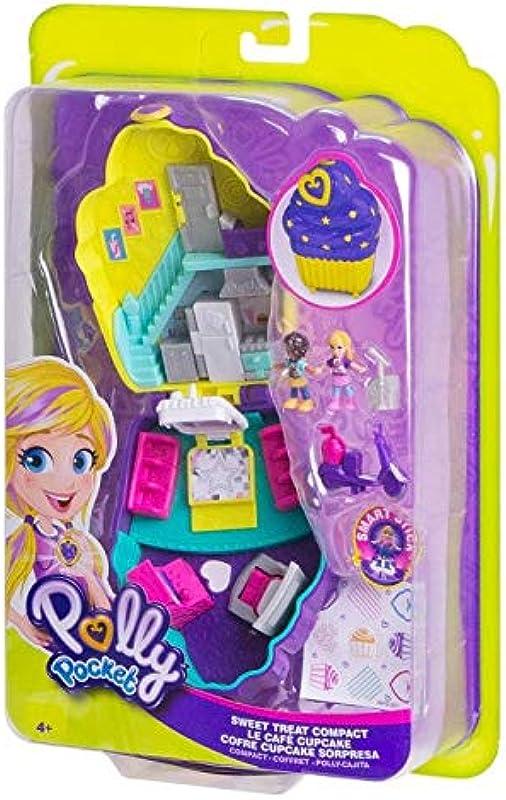 Polly Pocket Kids Girls Dolls Playsets Big World Sweet Treats Cupcake Compact And Bonus Bella Blue Lipgloss