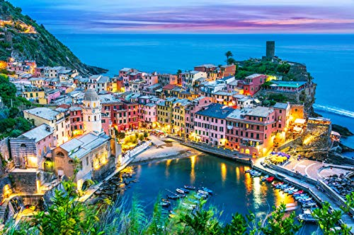 3DiSmart Jigsaw Puzzles 1000 Italy (Liguria)- Premium Edition. Jigsaw puzzles for adults 1000 pieces. Christmas Birthdays Presents Games Gift. 1000 piece Jigsaw Puzzles