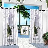 Aishare Store Patio Outdoor Curtain, Cabin,Wild Animals Canada Hunting, 52' x 84' Heavy Duty Indoor Panel for Porch Balcony Pergola Canopy Tent Gazebo Window(1 Panel)