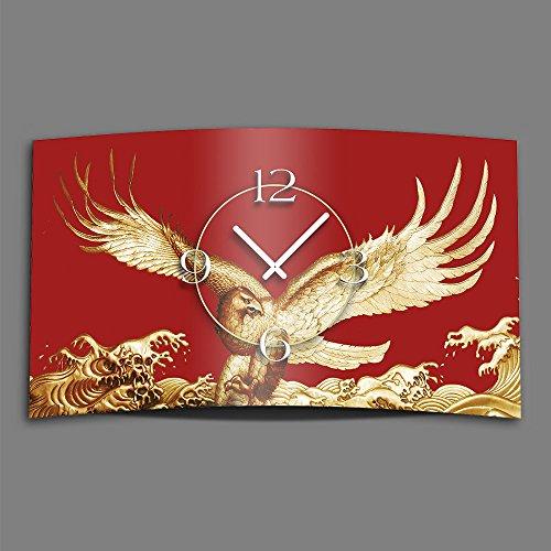 Goldadler 3DS-0118 Horloge murale design silencieuse sans tic-tac Rouge