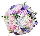WANGQW Boda Ramo romántico Flores Artificiales, Ramo de Novia Flores de Boda de Seda Artificial Ramo de jardín Decoración para el hogar Flores Dama de Honor Ramos Hydrangea (Color : Size S 3pcs Set)