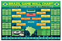 Brazil 2014 FIFA World Cup Wall Chart Poster