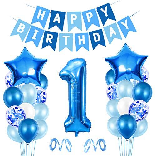 1er Cumpleaños Bebe Globos Decoracion, Globos Numeros 1 Dec