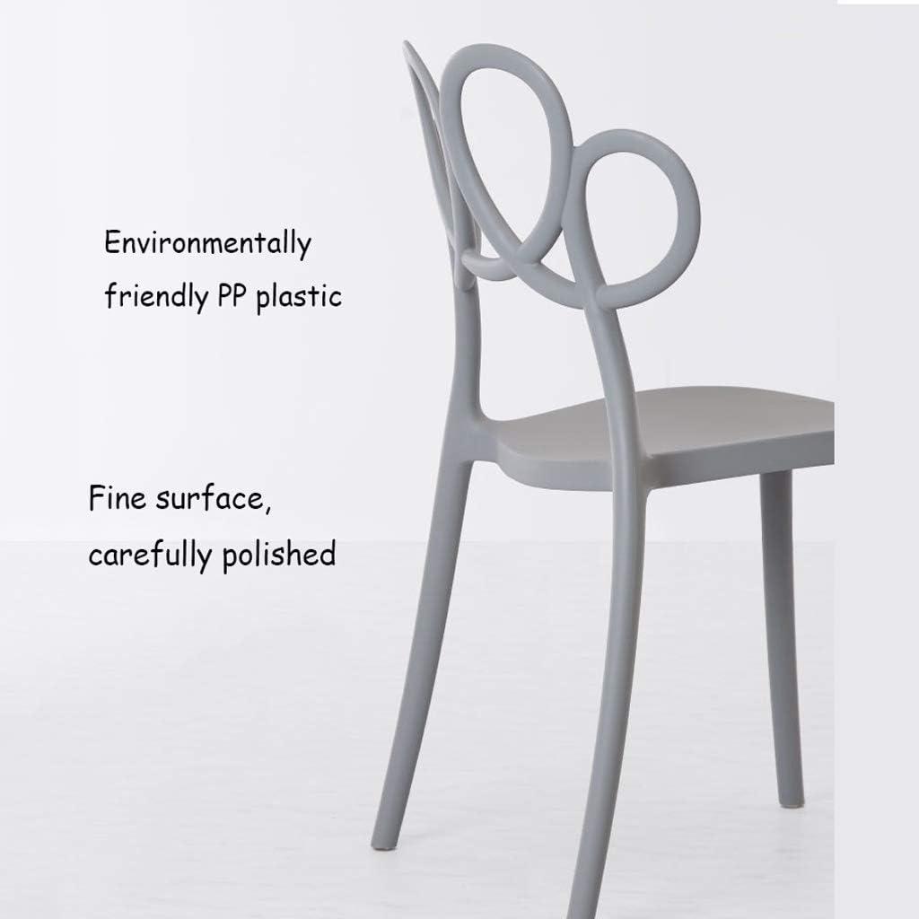 Lxn Mid Century Modern Design Chaise empilable en Plastique, Home Chaises sans Bras, Salle à Manger, Cuisine, Chambre à Coucher, chaises de Salon - 1PCS Black