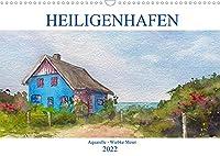 Heiligenhafen in Aquarell (Wandkalender 2022 DIN A3 quer): Landschaftsaquarelle (Monatskalender, 14 Seiten )