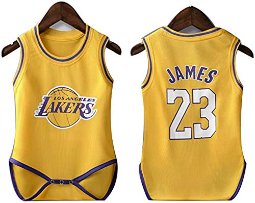 YDYL-LI New Basketball Jersey Uniform Baby One Piece Jersey Lakers # 23 Lebron James All-Star Fans Training Jerseys Sudaderas para Niños, Transpirable,M