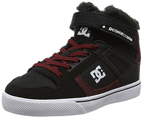 DC Shoes SPARTAN HIGH WNT EV, Jungen Sneaker, Schwarz (Black/Dark Red), 34 EU (2 UK)