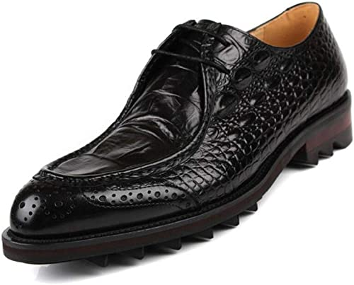 Hhoro zapatos Formales de Cuero de Moda para Hombre, zapatos con Punta de Negocios, Estilo británico, Vestidos de Uniforme, zapatos de Boda, Fiesta Informal, negro, 37