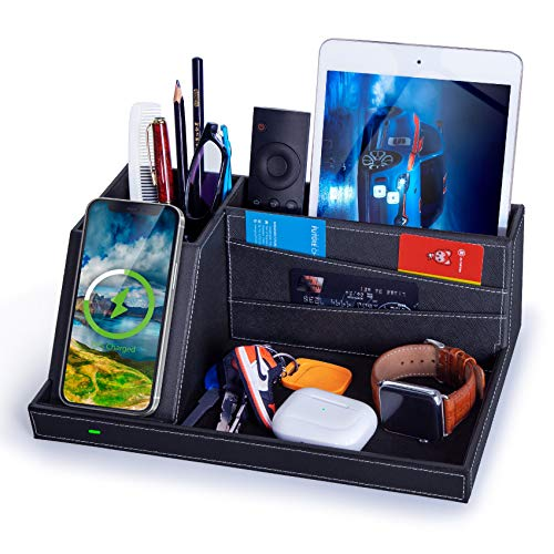 FutureCharger Fast Wireless Charger Desk Organizer USB Charging...