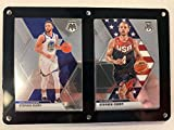 2019-20 Panini Prizm Mosaic Two Card Six Screw Plaque Featuring Stephen Curry in his Golden State Warriors and Team USA Uniform