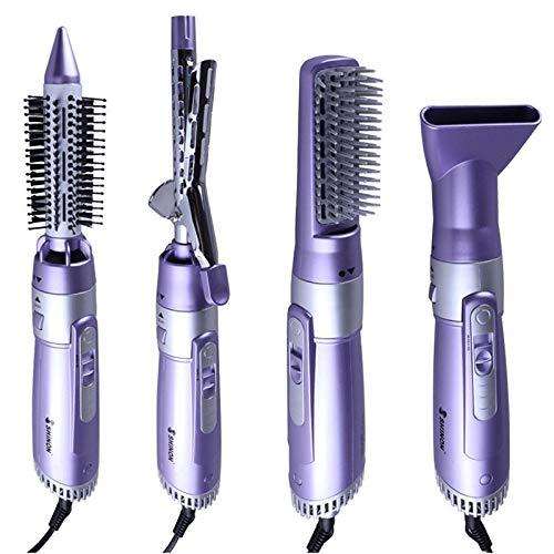 Geggur - Cepillo de aire acondicionado, 4 en 1, para salón de aire caliente, cepillo generador de iones negativos, alisador para cabello rubio, para mujeres de pelo largo o corto