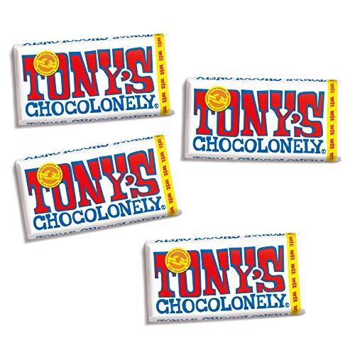 Tony's Chocolonely – Chocoladereep Wit – 4 x 180 gram – Fairtrade Chocolade