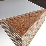 FUTURAZeta - 10 Pannelli (mq. 12,00) 120 x 100 x 3 cm sughero 20 mm. + cartongesso 10 mm. Cappotto interno isolamento termico acustico pannello accoppiato