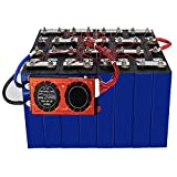 LONGRING LiFePO4 Lithium Iron Phosphate Battery Cells 4PCS 3.2V 100Ah 12V 100Ah Cell Pack with 4S 12V 100A BMS and BT Used for Solar RV EV, EU US Tax Free,4pcs+BMS