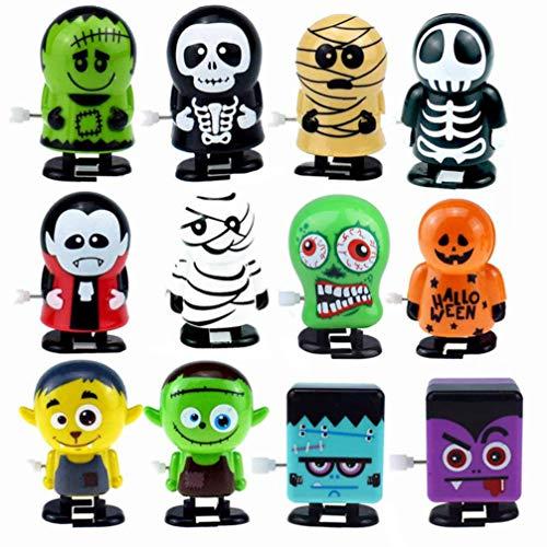 STOBOK Halloween Aufziehspielzeug Verschiedene Uhrwerk Spielzeug für Halloween Goody Bag Füller Party Gefälligkeiten für Kinder, 12Er Pack
