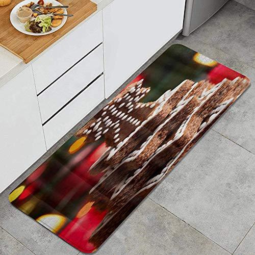 PANILUR Tappeto antiscivol,Torta al Cioccolato Natalizia Torre stellare Stampata,da Usare Come zerbino o per Soggiorno, Camera da Letto, corridoio, Cucina
