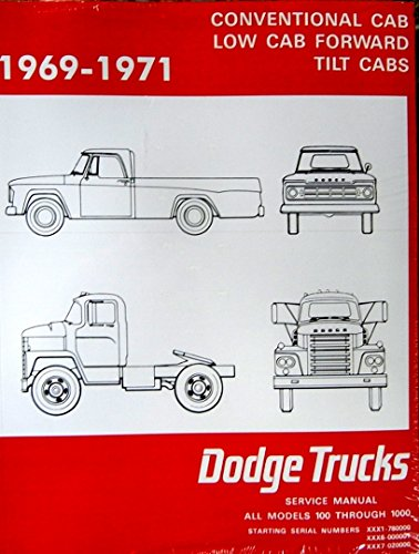 1969-1971 Dodge 100-800 Pickup Truck Repair Shop Manual Reprint 2 Vol. Set