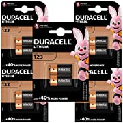 Duracell High Power Lithium 123 Battery 3 Volts, Pack of 10 (CR123/CR123A/CR17345) for Arlo Cameras, Photo Flash, etc (Amazon Exclusive)