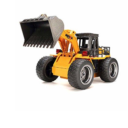 RC Baufahrzeug kaufen Baufahrzeug Bild 1: 2.4GHz RC ferngesteuerter Bagger Baustellen-Fahrzeug, Modell mit viele Metallbauteile, schwenkbarer Schaufel Radlader, Ready-To-Drive, Komplett-Set RTR*