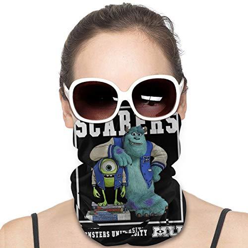 Huigaian Monsters Inc Mike and Sully Scarers Neck Gaiter Headwear Face Sun Mask Magic Scarf Bandana Sturmhaube Stirnband