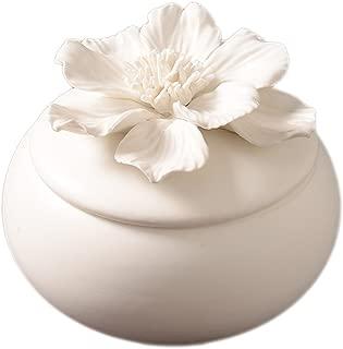 White Lotus Ceramic Jewelry Anti-Dust Box
