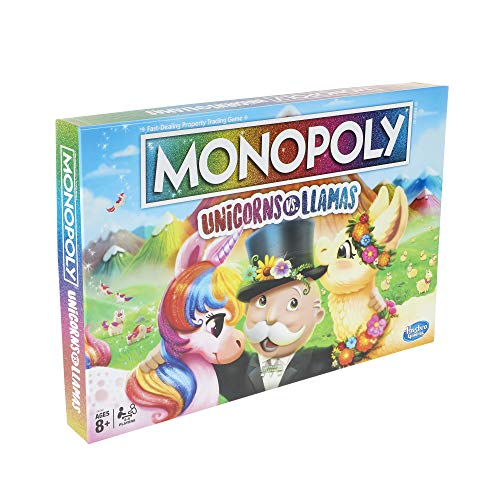 Monopoly Unicorns vs. Llamas Jeu de société pour les 8 ans et plus; - 3