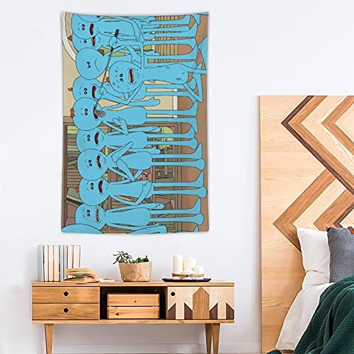 Meeseeks And Destroy - Tapiz de poliéster para decoración del hogar (100 x 150 cm)