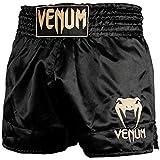 VENUM Classic Pantalones Cortos De Muay Thai, Unisex Adulto, Negro/Dorado, S