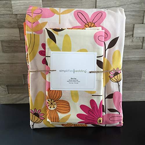 Girl Modern Flower Twin Duvet Cover Set