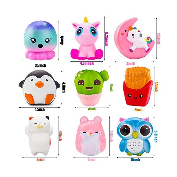 BeYumi Slow Rising Toy, Unicorn, Panda, Deer, Cat Squishy Toy, Kawaii Jumbo 10 Pcs Cream Scented Simulation Cute Animal… 8