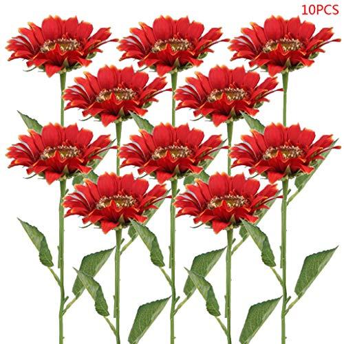 Ramo de flores artificiales para decoración del hogar, 10 unidades, 02.