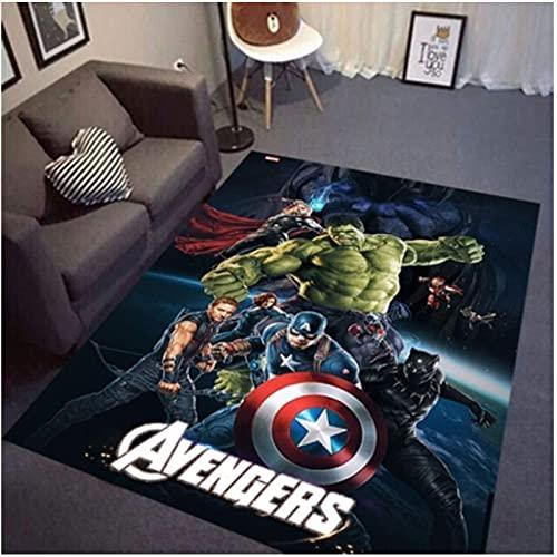 chengcheng Tapis Marvel Hero, Tapis antidérapants Creative Avengers, Magnifique Tapis de Sol pour la décoration intérieure 80x150cm