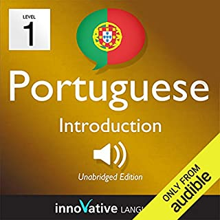 Learn Portuguese with Innovative Language's Proven Language System - Level 1: Introduction to Portuguese                   By:                                                                                                                                 Innovative Language Learning                               Narrated by:                                                                                                                                 Braden Chase,                                                                                        Thássia Costa                      Length: 17 mins     18 ratings     Overall 2.6
