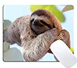 Wknoon Happy Sloth Mouse Pad