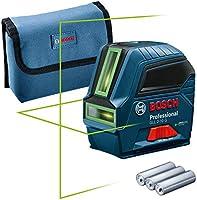 Bosch Professional Linienlaser GLL 2-10 G (grüner Laser, Arbeitsbereich: bis 10 m, 3x AA-Batterie, Tasche) – Amazon...