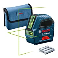 UP TO 4 TIMES BETTER VISIBILITY: The GLL 2-10 G offers high visibility thanks to green laser technology. Bright green laser lines offer up to four times better visibility than red lines. HORIZONTAL AND VERTICAL LEVELLING: Complete work on floors, cei...