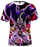 HAOSHENG Niño 3D Impresión Camisetas diseños de Cosplay Manga Anime Historieta T-Shirt(2XL)