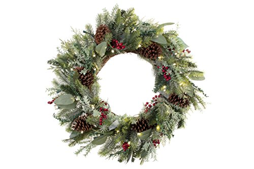 [30 Inch Artificial Christmas Wreath] - Winter Frost...