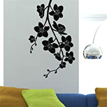 apolxs Wall Sticker Quotes Decals Decor Vinyl Art Stickers Orchids On Branch for Living Room Bedroom