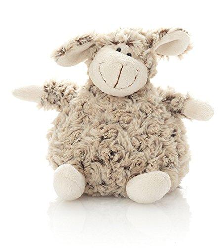 HanSen Stofftier Kuscheltier Plüschtier / Plüsch Schaf sitzend / 20 cm / braun / natur / kuschelweich / Lamm Lämmchen / klein / für Babys und Kinder