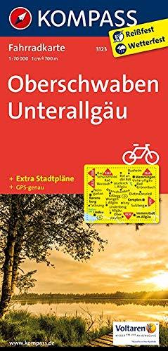 Carta cicloturistica n. 3123. Obershwaben, Unterallgäu 1:70.000. Adatto a GPS. Digital map. DVD-ROM: Fietskaart 1:70 000