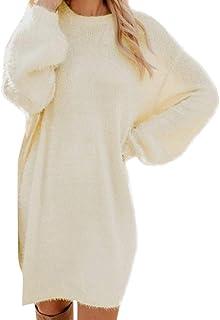 comprar comparacion VEMOW Vestido Mujer Invierno SuéTer Tejer SuéTer Tipo con Cuello De Tortuga Calentar Manga Larga Bolsillo Mini SuéTer Vest...