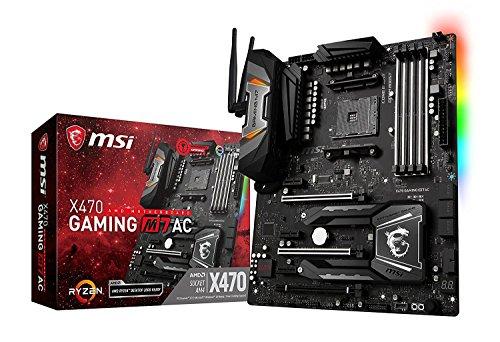 MSI Enthusiast GAMING AMD X470 Ryzen 2 AM4 DDR4 Onboard Graphics SLI...