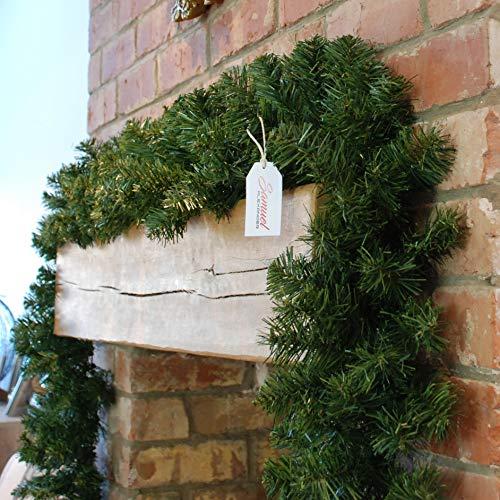 9ft Premier 270cm X 25cm Plain Green Christmas Garland Decoration