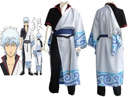 Sunkee Silver Soul Sakata Gintoki Cosplay Kostüm , Größe XL (H  175cm-180cm , Gewicht 70-80 kg)